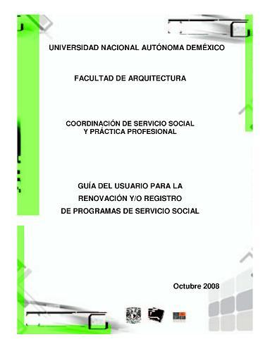 Convocatoria servicio social fac arq unam for Portadas de arquitectura